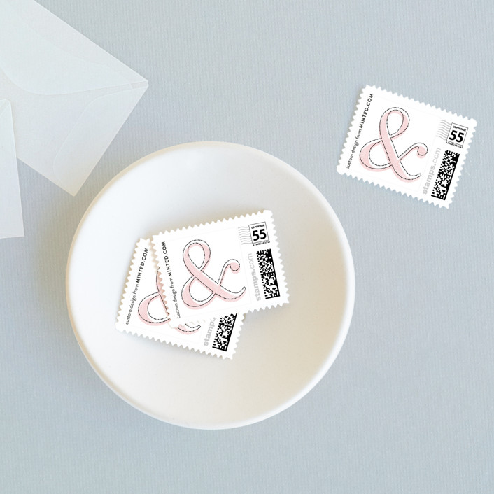 """Dressmaker Details"" - Simple, Bold typographic Wedding Stamps in Black by Kristie Kern."