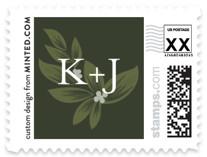 Laurels Frame Wedding Stamps