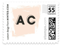 This is a orange wedding stamp by frances called bold blush with standard printing on adhesive postage paper in stamp.