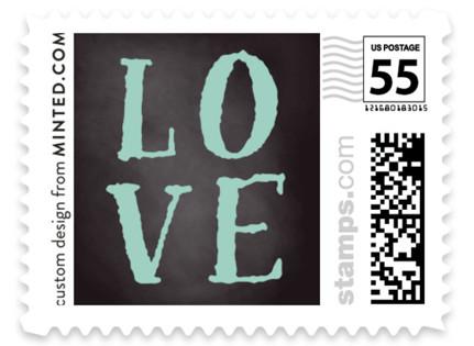 Floral Chalkboard Wedding Stamps