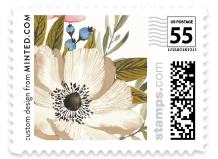 Garden Rose Wedding Stamps
