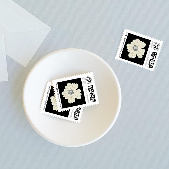 Jardin nocturne wedding stamps by bonjour paper minted for Jardin nocturne