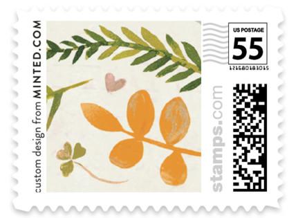 Leaf Specimen Wedding Stamps