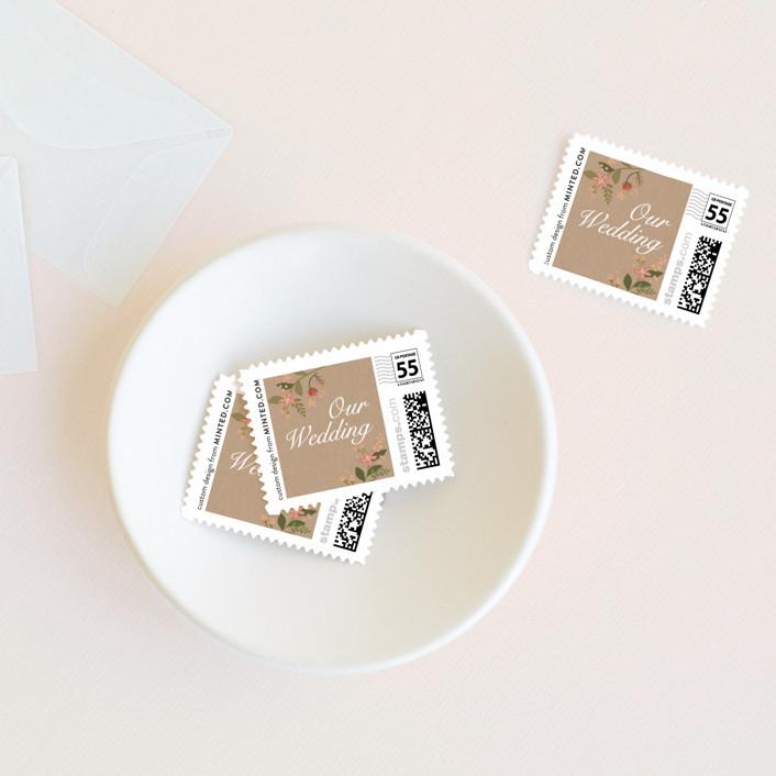 """""""Longwood Estates"""" - Wedding Stamps in Peach Sorbet by Jennifer Wick."""