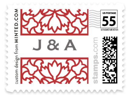 Double Happiness Screen Wedding Stamps
