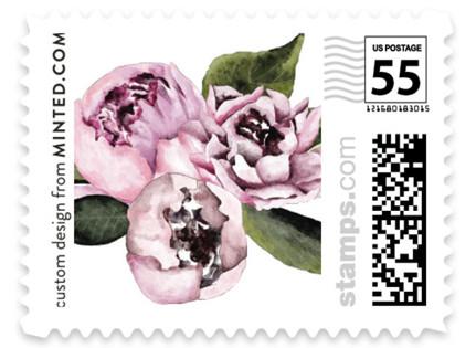 Peony Wedding Stamps