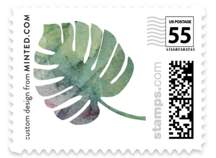 Tropical Foliage Wedding Stamps