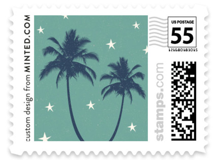 Retro Hawaii Wedding Stamps
