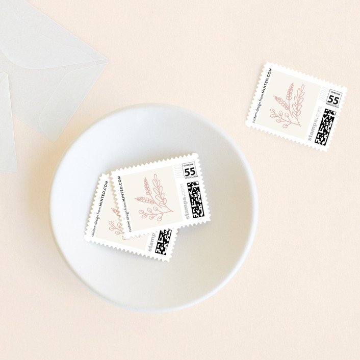 """Rustic Charm"" - Rustic Wedding Stamps in Petal by Hooray Creative."