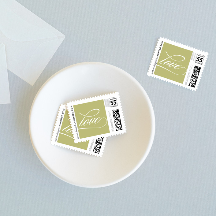 """""""Sloane"""" - Wedding Stamps in Helios by Dauphine Press."""