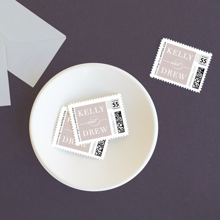 """""""Simply Stated"""" - Elegant, Simple Wedding Stamps in Orchid by Eric Clegg."""
