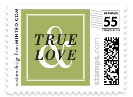 Wed in Type Wedding Stamps