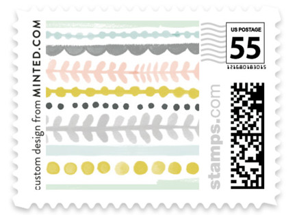 Whimsy Stripe Wedding Stamps