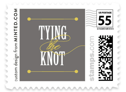 Bold Brackets Wedding Stamps