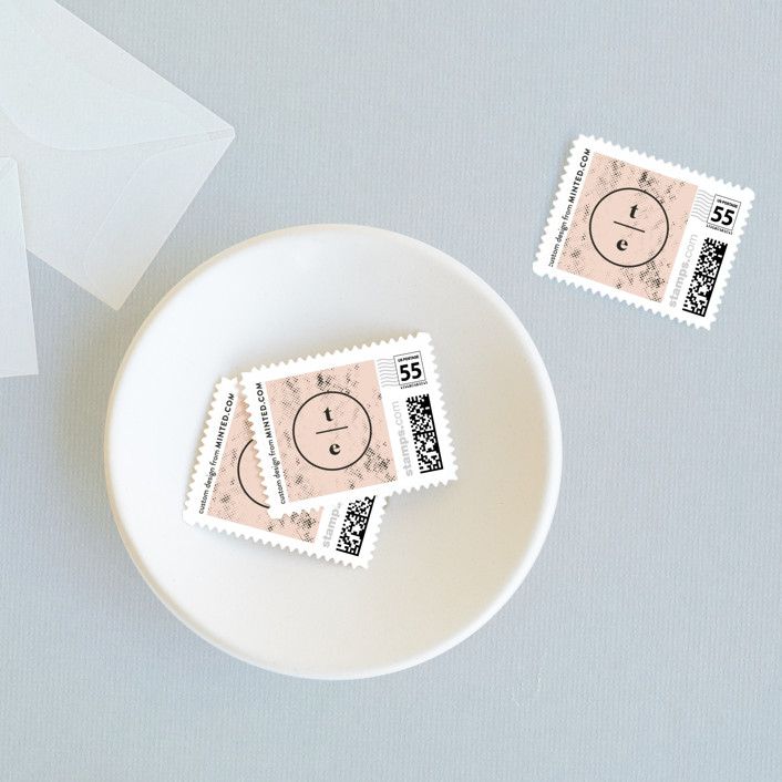 """""""New York"""" - Wedding Stamps in Blush by Nazia Hyder."""