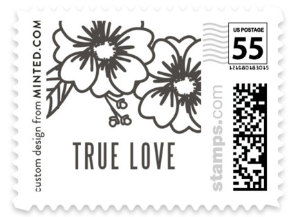 Modern Botanicals Wedding Stamps