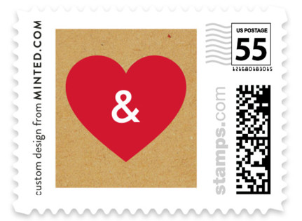 Textbook Love Story Wedding Stamps