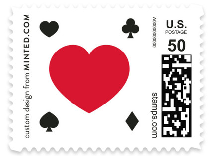 Vegas Type Wedding Stamps