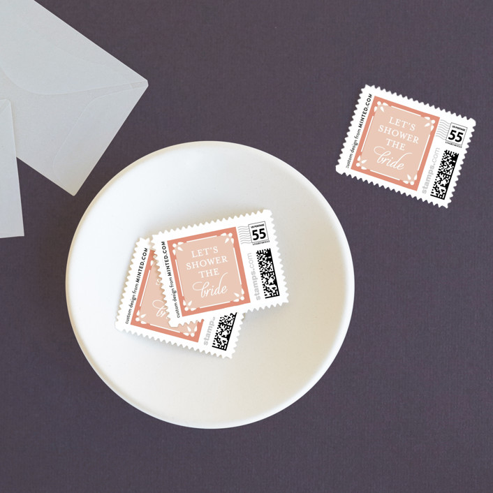 """Decadence"" - Wedding Stamps in Rose by Jennifer Postorino."