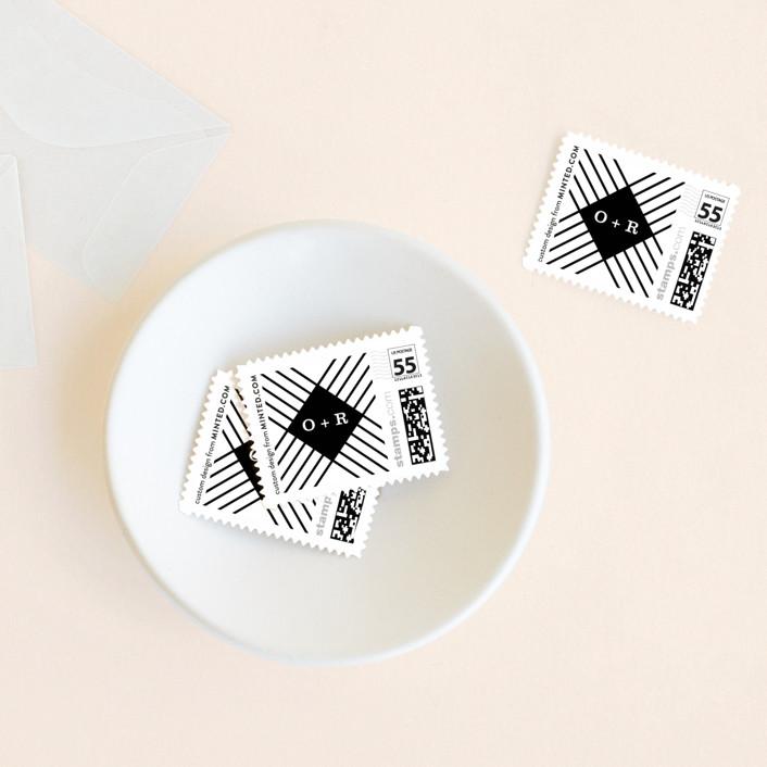 """rhythm"" - Wedding Stamps in Noir by Yuliya Evseeva."