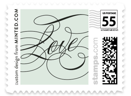Modern Angle Wedding Stamps