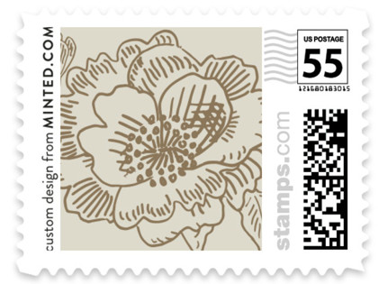 Wedding Etching Wedding Stamps