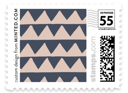 Deco Chevron Wedding Stamps
