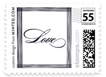 Evening Elegance Wedding Stamps