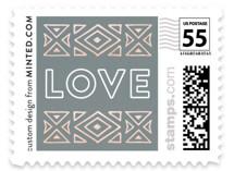 Geometric Border Wedding Stamps