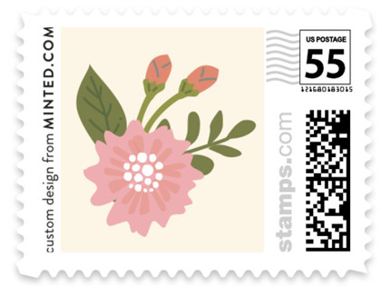 Cottage Rose Wedding Stamps