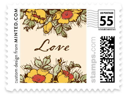 Harvest Floral Wedding Stamps