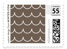 Sweet Scallop Wedding Stamps
