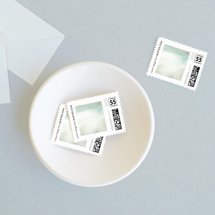 """""""Sandstone"""" - Abstract Wedding Stamps in Sea by Olivia Kanaley."""