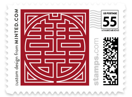Double Happiness Seal Wedding Stamps