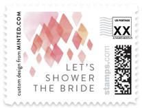 Pink Diamonds Wedding Stamps