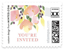 Pink Blossoms Wedding Stamps