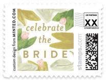 Floral Bride Banner Wedding Stamps