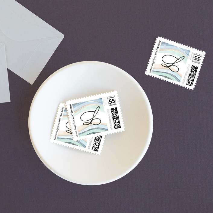 """Painted Layers Splash"" - Wedding Stamps in Carnation by Alethea and Ruth."