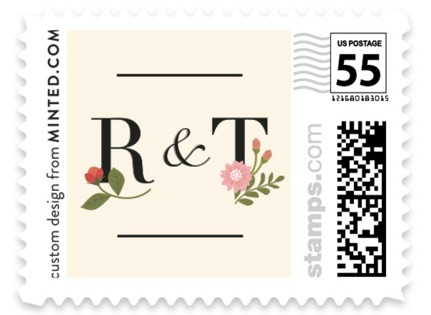 Cottage Rose Wedding Stamps