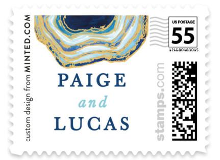 Gilt Agate Wedding Stamps