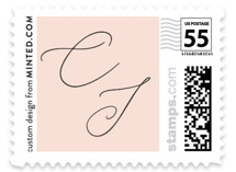 This is a pink wedding stamp by Kelly Nasuta called Bare with standard printing on adhesive postage paper in stamp.