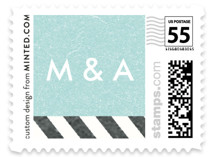 Come Fly with Us Wedding Stamps