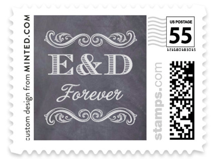 A Chalkboard Marriage Wedding Stamps