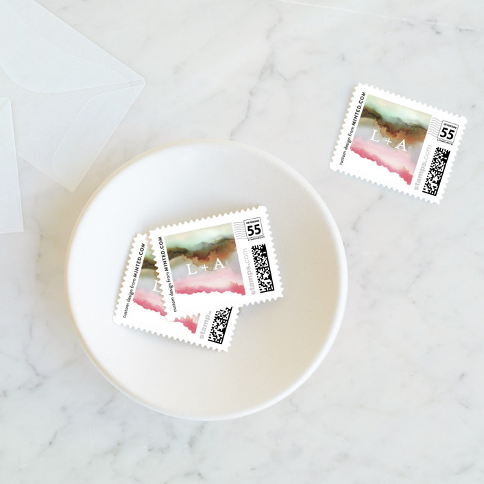 """Sedona"" - Wedding Stamps in Desert Sands by Itsy Belle Studio."