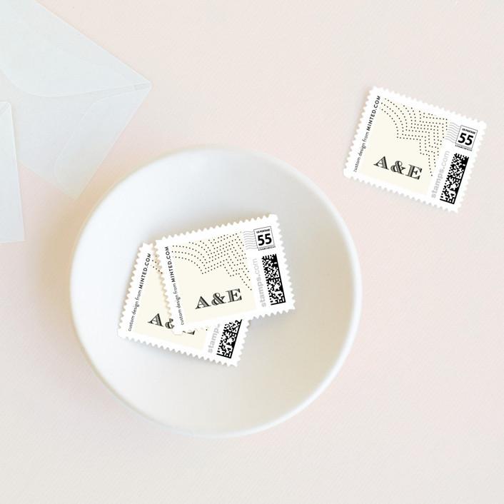 """Splendorous"" - Vintage Wedding Stamps in Cream by Design Lotus."