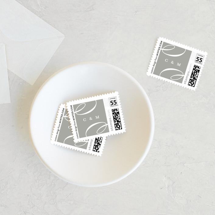 """Eternity"" - Wedding Stamps in Quartz by Jessica Williams."