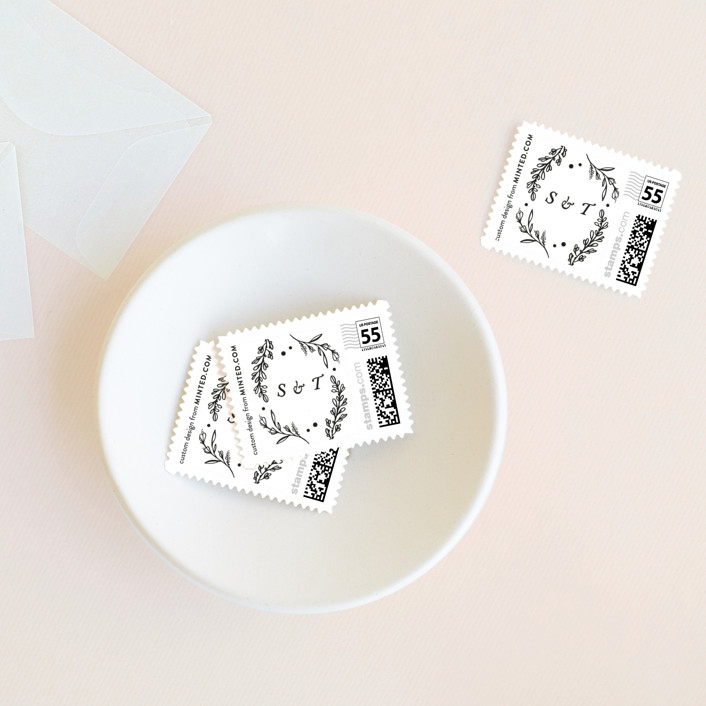 """""""Delicate Dates"""" - Wedding Stamps in Snow by Kristen Smith."""