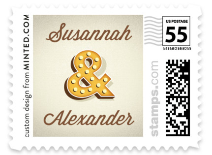 Ampersand Marquee Wedding Stamps