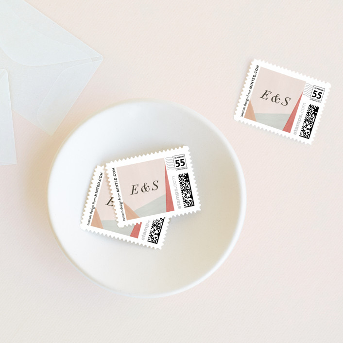 """""""Eleanor"""" - Wedding Stamps in Rose by Creative Parasol."""