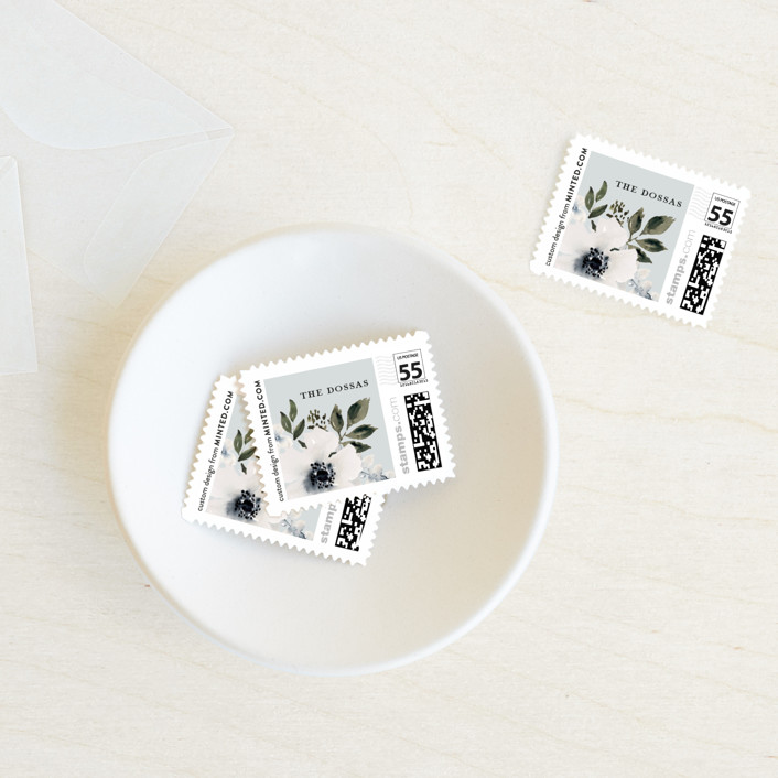 """""""Nantucket Romance"""" - Wedding Stamps in Marine by Chris Griffith."""